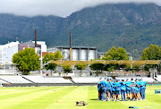 A view of the Proteas during the South African national cricket team training session and press conference at Newlands Cricket Stadium on January 02, 2020 in Cape Town, South Africa.