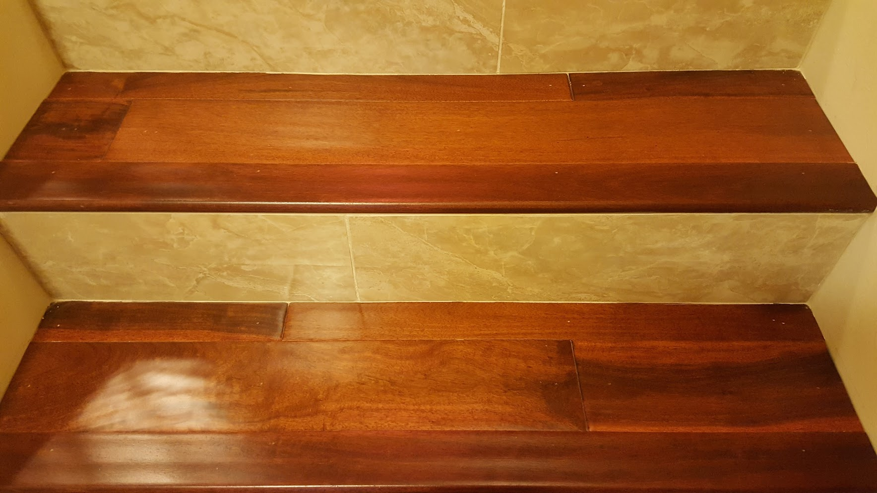 Marble and Wood Staircase - R & M Flooring Best Quality Floors