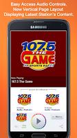 Screenshot of 107.5 The Game
