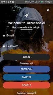 Xzero Social Messenger - náhled
