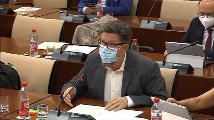 Rodrigo Sánchez Haro, en el Parlamento Andaluz.
