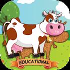 适于儿童的动物拼图 – 教育版 icon