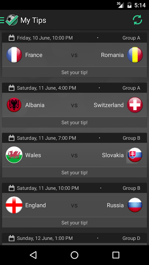 TipExpert - EURO 2016- screenshot