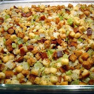 Old Fashioned Bread and Celery Dressing or Stuffing.
