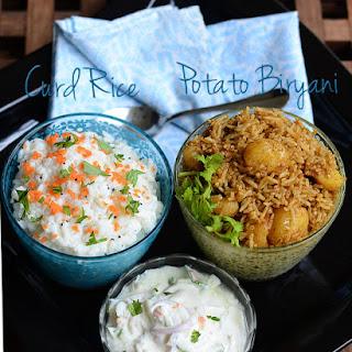 Small potato biryani meal - Lunch menu 18