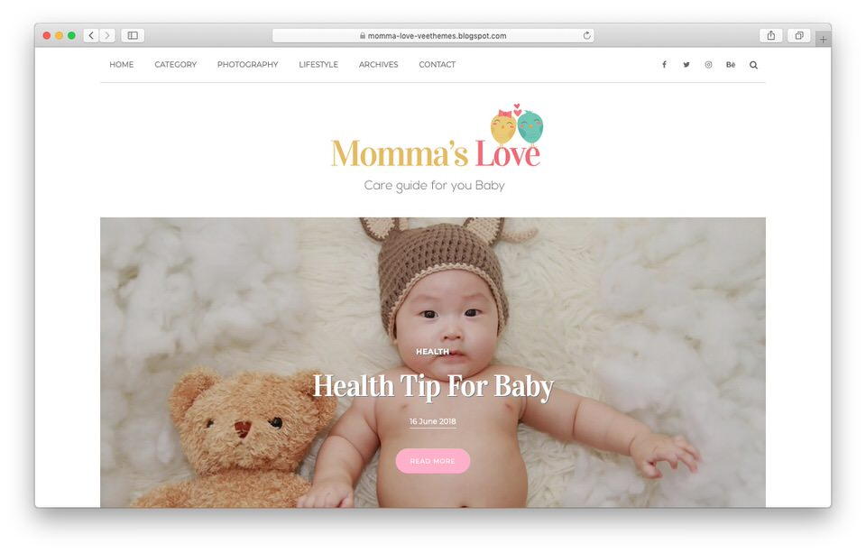 Momma's Love Template Display