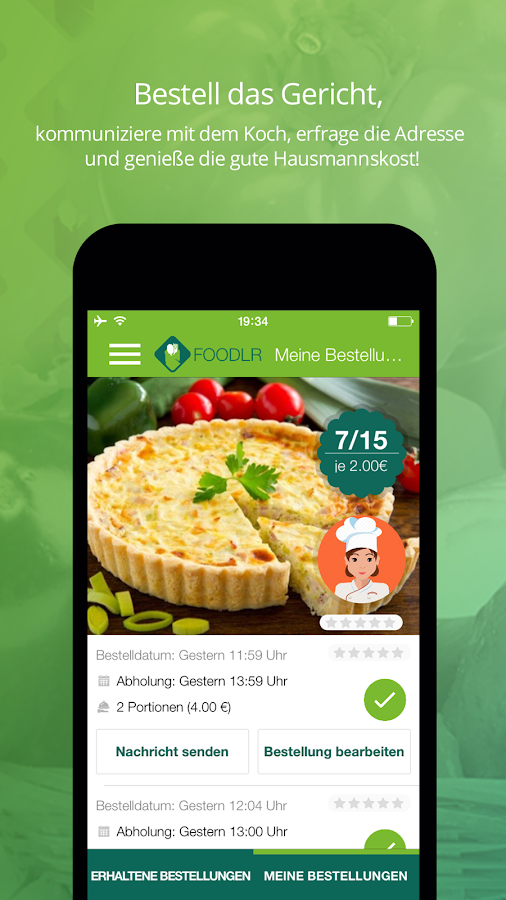 Foodlr- screenshot
