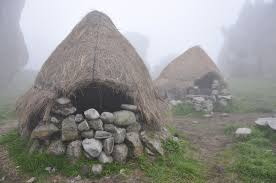 Ancient huts stonemasons once lived in