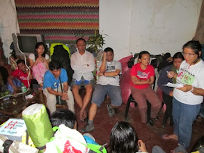 Photo: SOS president Rosalinda Tablang during an orientation before going to the target areas