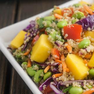 Tropical Sesame Quinoa with Mango and Edamame