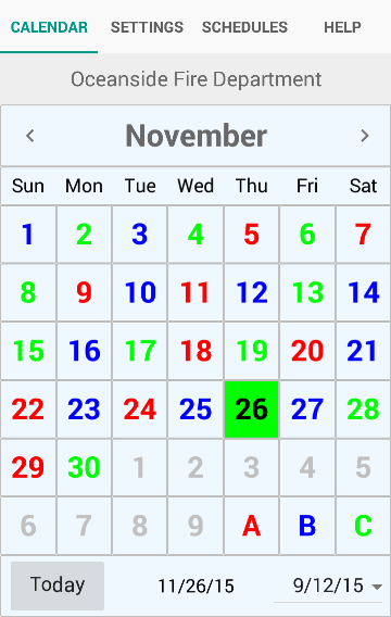 ShiftCal® - the FF Calendar- screenshot