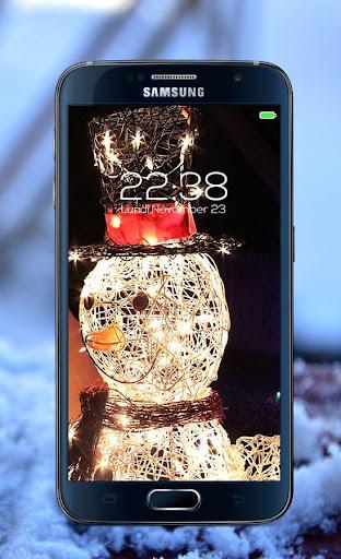 Snowman password Lock Screen