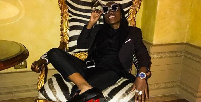 Robbie Malinga's son has denied fake reports he is dating a TV star.