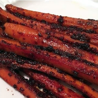 Glazed Carrots With Ginger and Three-Beet Powder.
