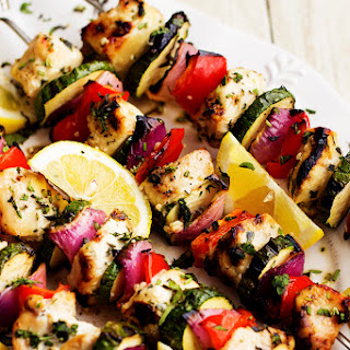Herbed Lemon Garlic Chicken Skewers