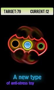 Fidget Hand Spinner Neon Glow - náhled