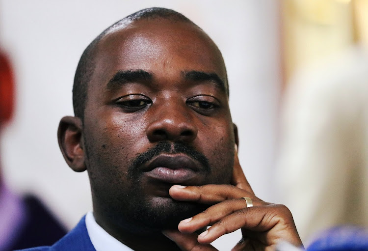 Opposition Movement for Democratic Change (MDC) party leader Nelson Chamisa.