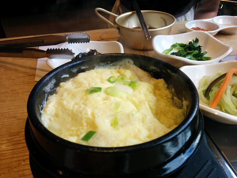 Bowl of egg stew at Kobi in North York