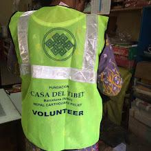 Photo: Chaleco para los voluntarios de la Fundació Casa del Tibet en Nepal.