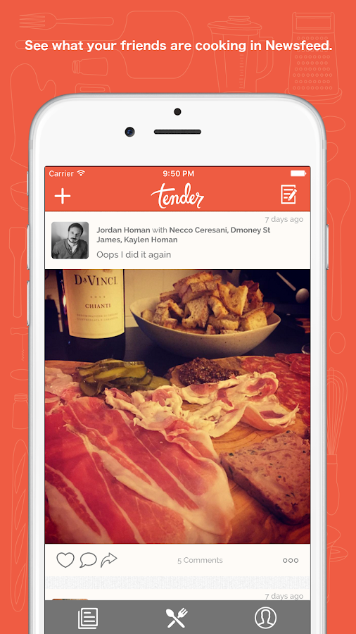 Tender - Social Food- screenshot
