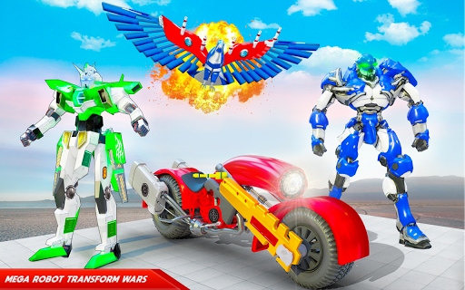 Flying Police Eagle Bike Robot Hero: Robot Games 29 screenshots 5