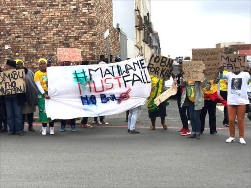 OUTRAGE: Reeston residents staged a peaceful protest outside the East London Magistrate's Court yesterday Picture: ZWANGA MUKHUTHU