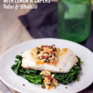 Pan-Fried Haddock with Lemon & Capers.