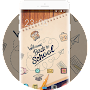 Hand Drawing Theme: College Back to School FREE APK icon