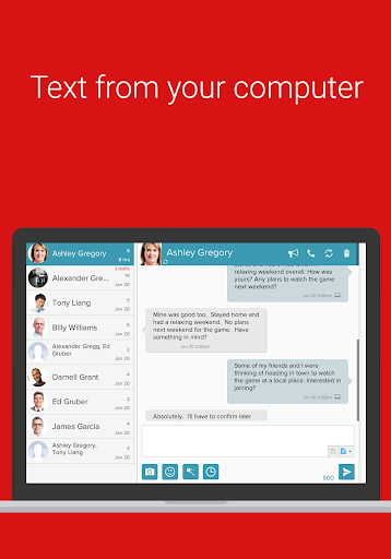 SMS from PC / Tablet & Sync Text from Computer 15.10 screenshots 2