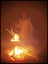 Photo: The kids made/lit the fire that night