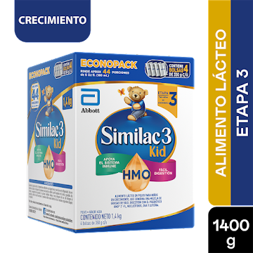 Formula Infantil Similac Etapa 3 Prosensitive Kid x 1400Gr
