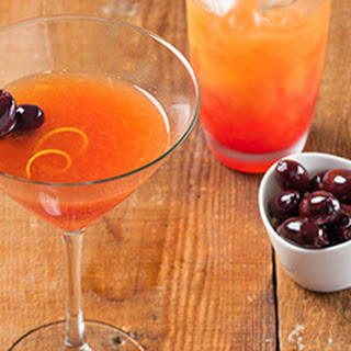 Blood Orange Kalamata Martini