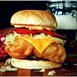The Cowboy Way Fish Sandwich.