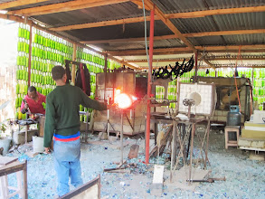 Photo: Shanga glass blowing works using recycled bottles