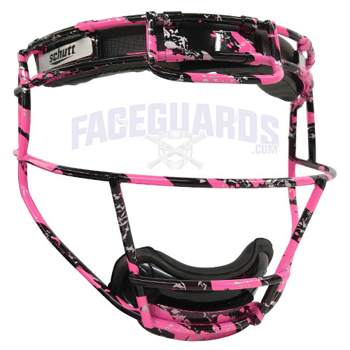 Schutt Pitchers Facemask Black Marble Pink