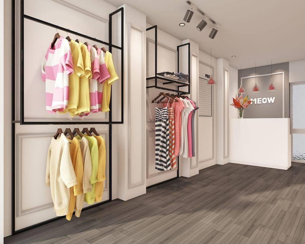 thiết kế shop thời trang nữ meow 2