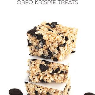 Chocolate Covered Oreo Krispie Treats.