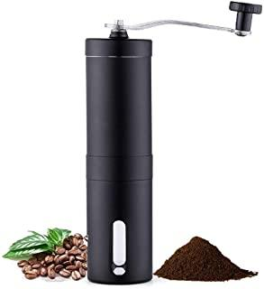 KEATY Manual Coffee Grinder, Coffee Maker for Fresh Coffee, Hand Bean Mill, Stainless Steel, Perfect for Home,Office or Travelling(Black)