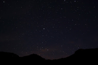 Photo: Excellent star watching conditions at night.