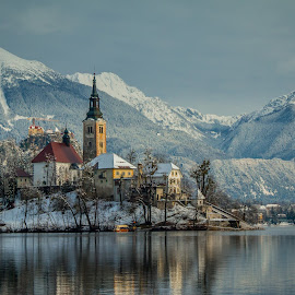 by Mario Horvat - Buildings & Architecture Places of Worship ( water, mountains, winter, church, snow, bled, lake,  )