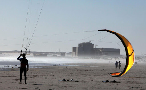 A kite-surfer near the Koeberg nuclear power station. File photo.