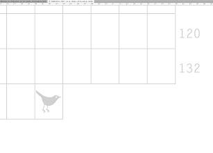 Photo: detall graella Simplifica TWIT v.2010 l'ocellet marca 140 caràcters ;-)