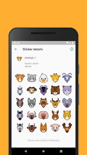 Emoticons Sticker Pack for WhatsApp 0.2.10 screenshots 5