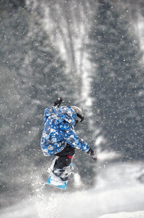 Hitting the jump by T.J. Wolsos - Sports & Fitness Snow Sports ( snowboard, skiing, sports album, pwcwintersports, snow )