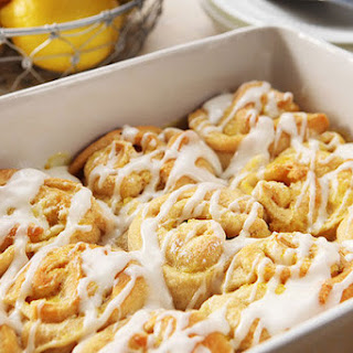 Lemon Sticky Buns with Cream Cheese Glaze