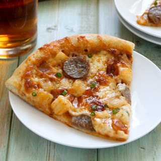 Bratwurst and Potato Pizza with Beer Crust