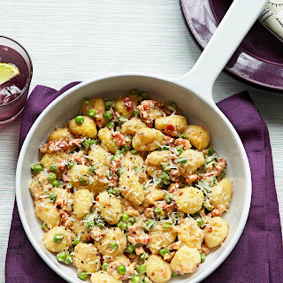 Gnocchi With Peas and Pancetta.