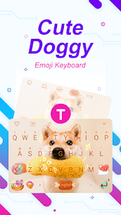 Cute Doggy Theme&Emoji Keyboard - náhled