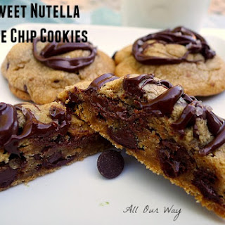 Salty Sweet Nutella Chocolate Chip Cookies