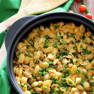 Cheesy Macaroni Tuna Casserole.